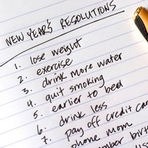 101 New-Year's-Resolution List