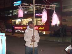 हवा मिठाई कॉटन कैंडी Cotton Candy Hawa Mithai Seller