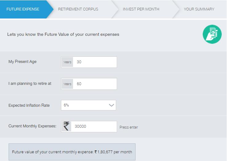 Retirement Planning in Hindi Calculator