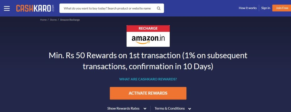 Cash Karo Amazon
